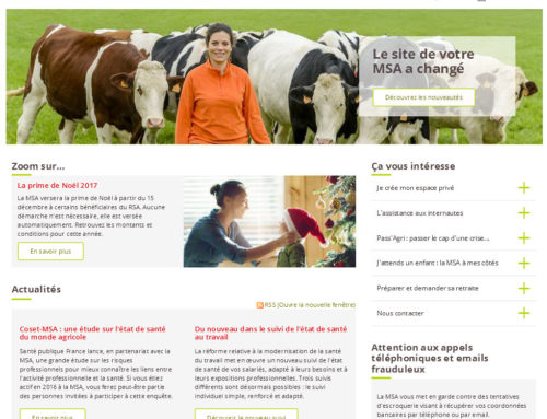 Le site Internet de la MSA évolue